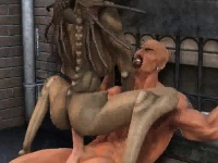 Горячая 3d мультфильм монстр крошка трахает трудно