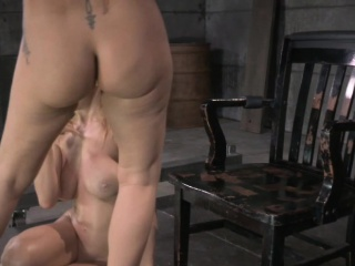 BDSM sub Simone Sonay ass pounded