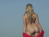 Graceful nude blonde strutting outdoors | Pornstar Video Updates