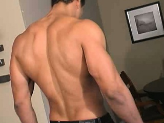 GAY latin men shows off his hot masculine rock body and his
