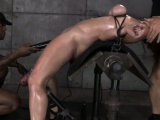 BDSM fetish sub Bella Rossi spitroasted