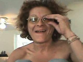 Rail Thin Granny Whore Smoking Cock...