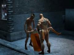 Секс через стену в туалете видео