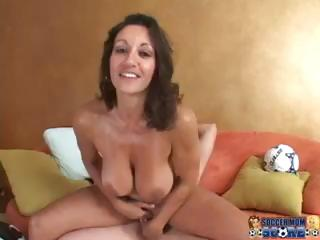 Porn Tube of Brunette Soccer Mom Gets The Old Ref And Sucks And Fucks Him