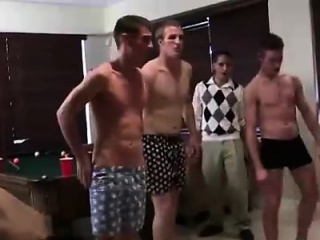 Straight Guys Collared In College Fraternity...
