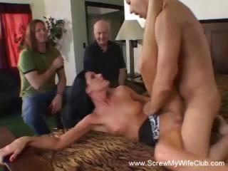 Sex Movie of Brunette Wife Is A Swinger And Will Suck Or Fuck Any Hard Cock