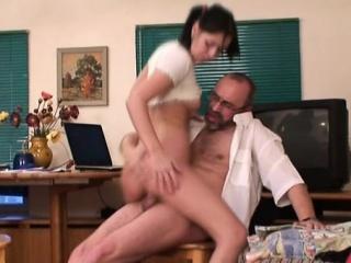 Teacher forcing himself on playgirl...