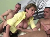 British milf rides and sucks cocks