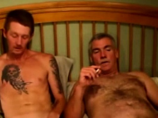 Mature straight bears smoke and give bj
