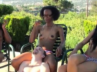 Femdom Ebony Chicks Humiliating Guy