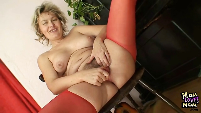 Porno Video of Blonde Milf Jaromira Crazy Dildo Masturbation