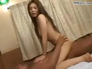 Sex Movie of Japanese Babe Gets A Massage And Then Massages His Hard Cock