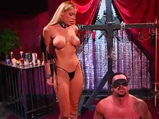Porn Tube of Blonde Mistress Is Abusing And Torturing Her Hapless Slave
