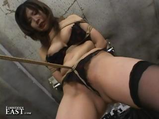 Porn Tube of Japanese Girl Gets Tied Up, Gagged And Fucked With A Huge Vibrator