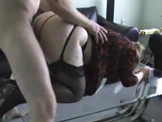 Porno Video of British Amateur Hoochie In Stockings Gets Fucked From Behind