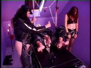 Porn Tube of Mistress Loves Fooling Around Both With Male And Female Slaves
