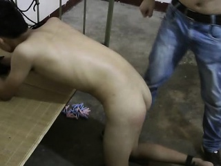 Cute Asian Boy Slave Naked Ass Spanking