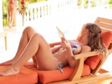 Outdoor lesbian action with dreamy goddesses