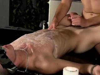 Twinks XXX Splashed With Wax And Cum