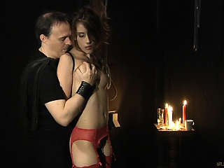 Tina lingerie exploited by her master...