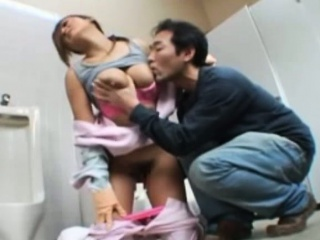 Publicsex asian babe groped mens room