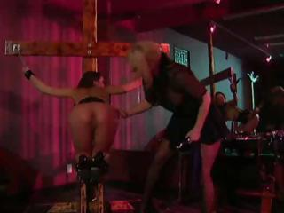 Sex Movie of Busty Brunette Is Tied Up And The Mistresses Fight Over Who Gets Her