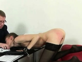 young hot brunette spanked and fingered