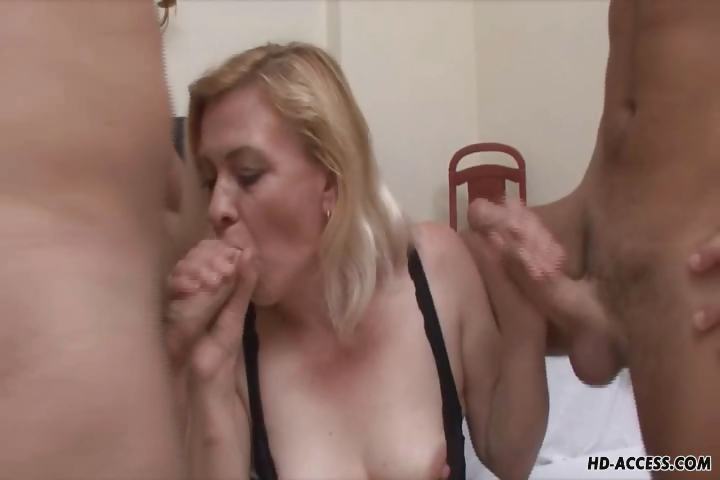 Porno Video of Kinky Mature Blond In Wild Groupsex!