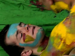 Splashed And Smeared With Colorful Smudges The Boys...