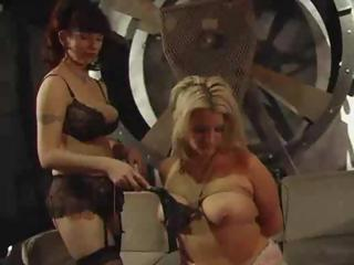 Porn Tube of Blondie Lives Through The Horror Of Being Dominated By Bossy Dykes