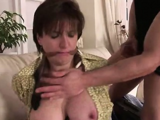 Mature british lady sucks while bound...