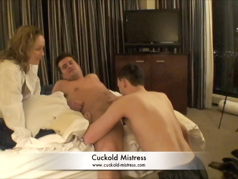 Porno Video of Mistress Makes Guy Suck Cock