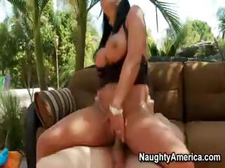 Sex Movie of Brunette Mercedes Ashley Does Some Sucking And Fucking Outside