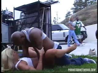 Porn Tube of Blonde Gets Fucked From Behind Out In The Public By Black Dude