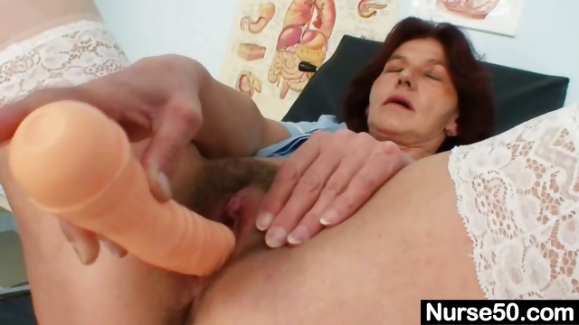 Porno Video of Redhead Grandma Linda Hairy Pussy Close Ups