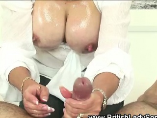 Mature british housewife titfucks...