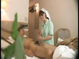 Porn Tube of Hidden Cam Films Japanese Nurse Doing Some Extra Care On His Cock
