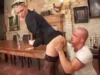 Sex Movie of German Blonde Bends Over And Gets Her Ass Nicely Fucked Hard