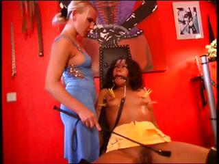 Porn Tube of Brunette Is In The Dungeon Tied Up And Getting Tortured From Mistress