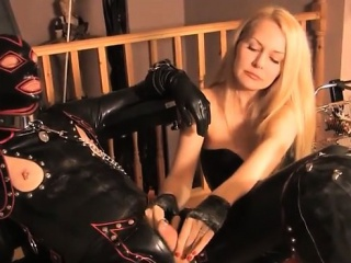 Masochism In Latex With A Blonde...