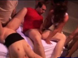 Wonderful swinger group blowjob and sex