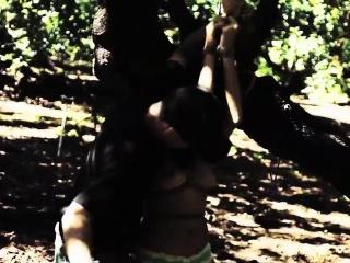HelplessTeens Mia submit to outdoor bdsm