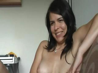 Sex Movie of This Cute Brunette Really Gets It Off On Watching Her Bf Masturbate