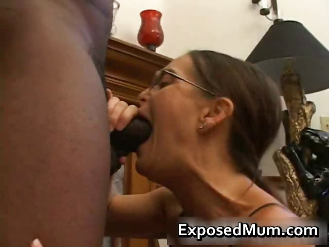 Porno Video of Hot Milf In Glasses Deepthroating Black Part5