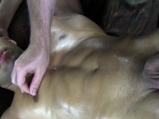 Black amateur gets head at gay massage