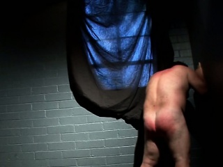 Face against the wall and hard BDSM spanking
