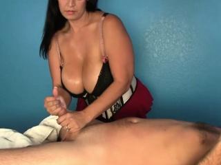 Hugetit cbt masseuse tittyfucking losers cock