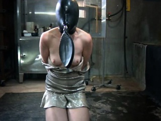 Masked sub having breath witheld