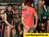 Watersport pissing group orgy