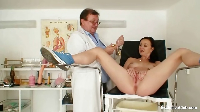 Porn Tube of Skinny Teen Kinky Gyno Exam And Anal Plug